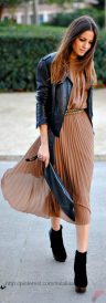 Black leather jacket outfit 33