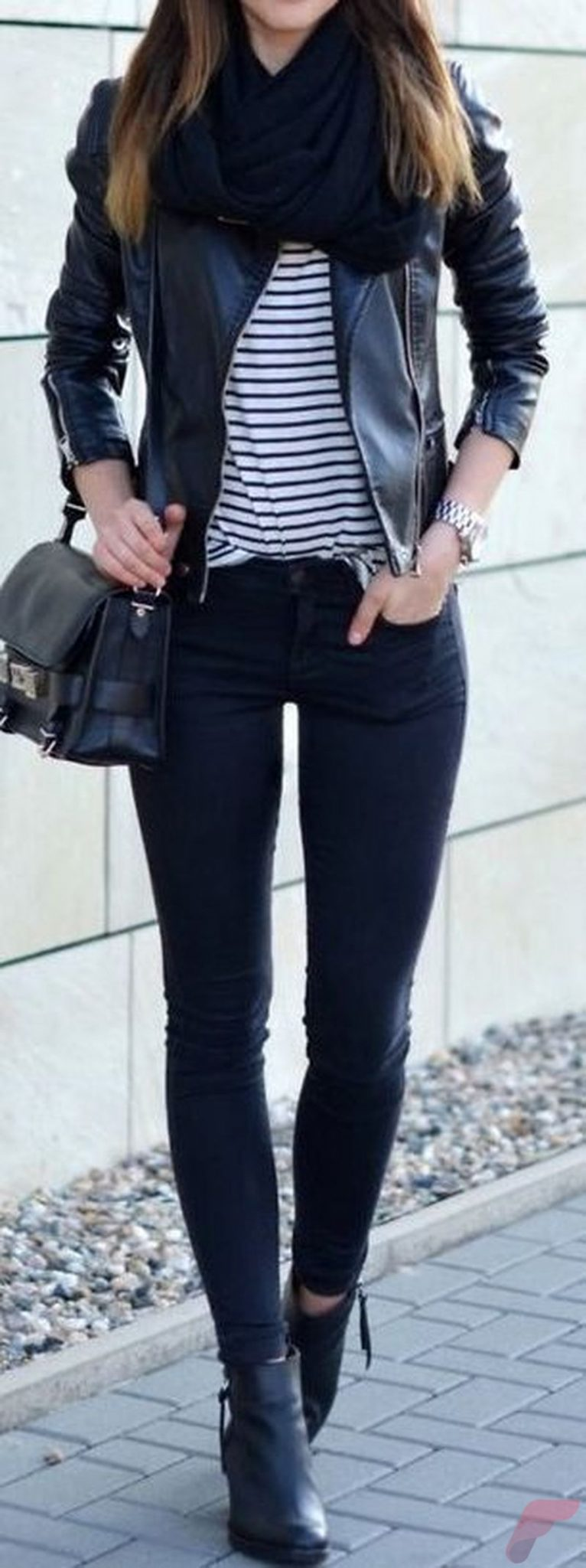 Black leather jacket outfit 51