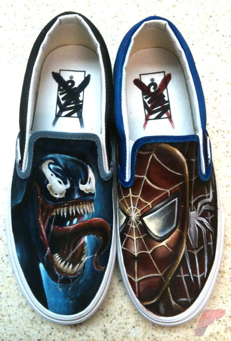 Custom painted vans shoes 12