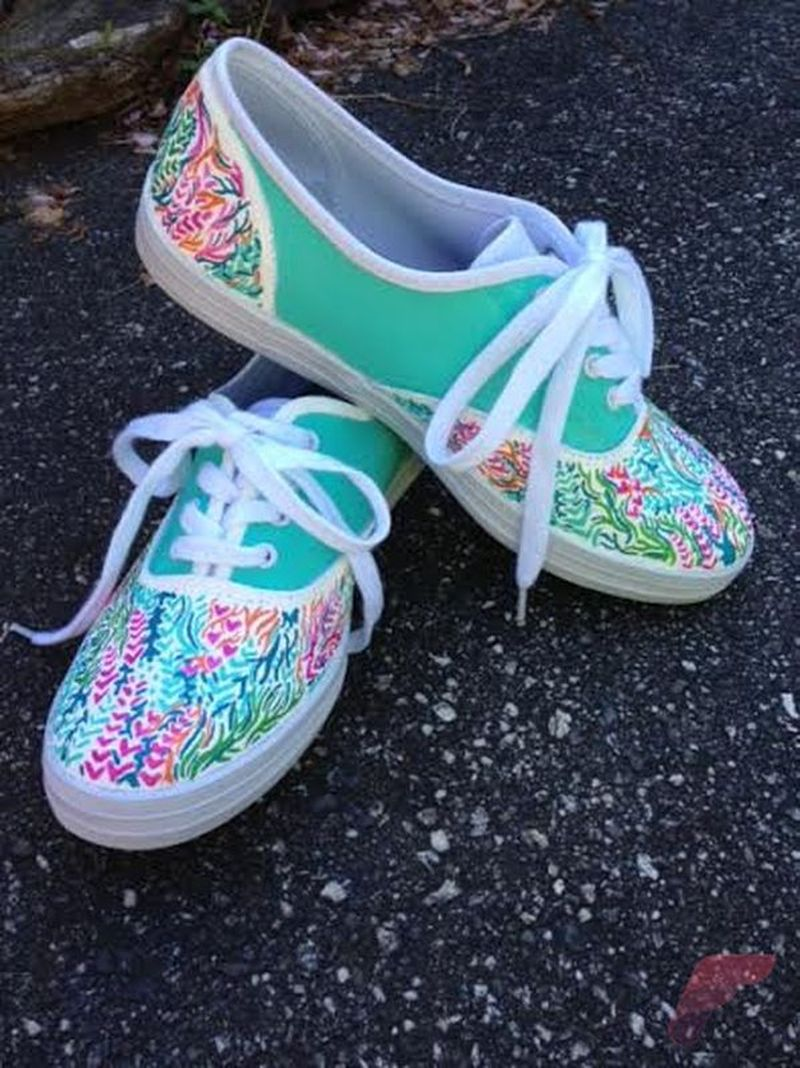 Custom painted vans shoes 13