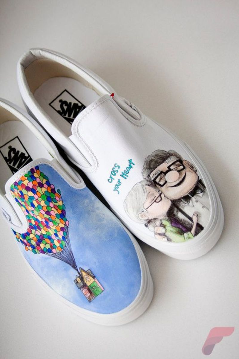 Custom painted vans shoes 2
