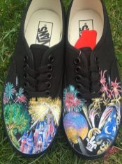 Custom painted vans shoes 24