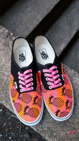 Custom painted vans shoes 37