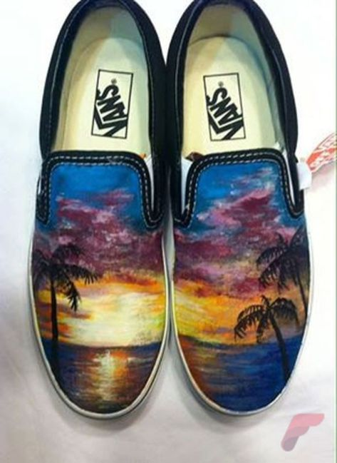 Custom painted vans shoes 42