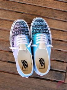 Custom painted vans shoes 45