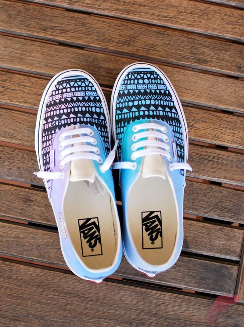 Custom painted vans shoes 5
