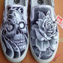 Custom painted vans shoes 57
