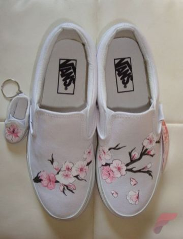 Custom painted vans shoes 6