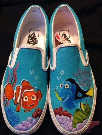 Custom painted vans shoes 75