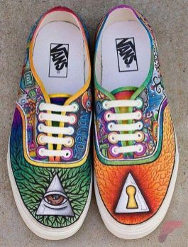 Custom painted vans shoes 8