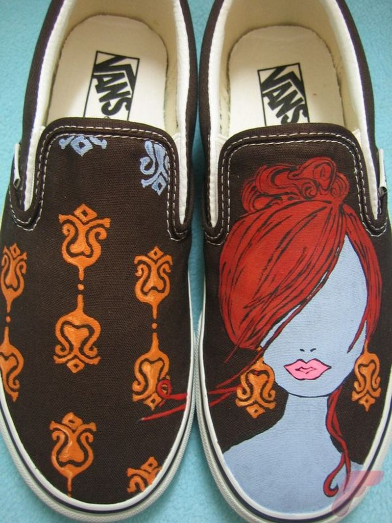 Custom painted vans shoes 81