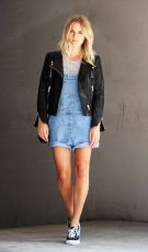 Denim overalls short outfit 106