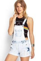 Denim overalls short outfit 18