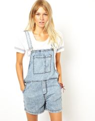 Denim overalls short outfit 19