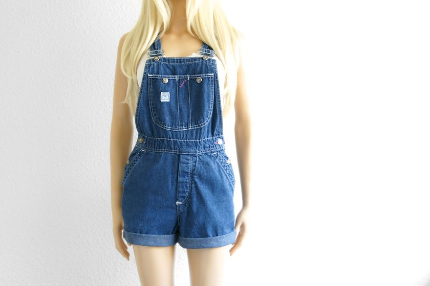 Denim overalls short outfit 20