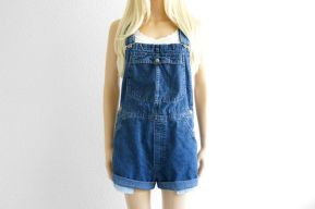 Denim overalls short outfit 26