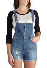 Denim overalls short outfit 29
