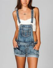 Denim overalls short outfit 59