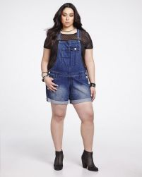 Denim overalls short outfit 71