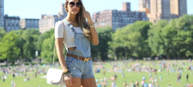 Denim overalls short featured