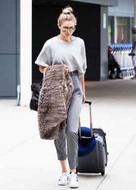 Gigi hadid sneakers outfit on the street 13