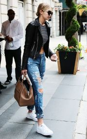Gigi hadid sneakers outfit on the street 19