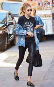 Gigi hadid sneakers outfit on the street 33