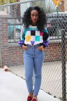 High waisted jeans outfit style 105