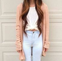 High waisted jeans outfit style 108