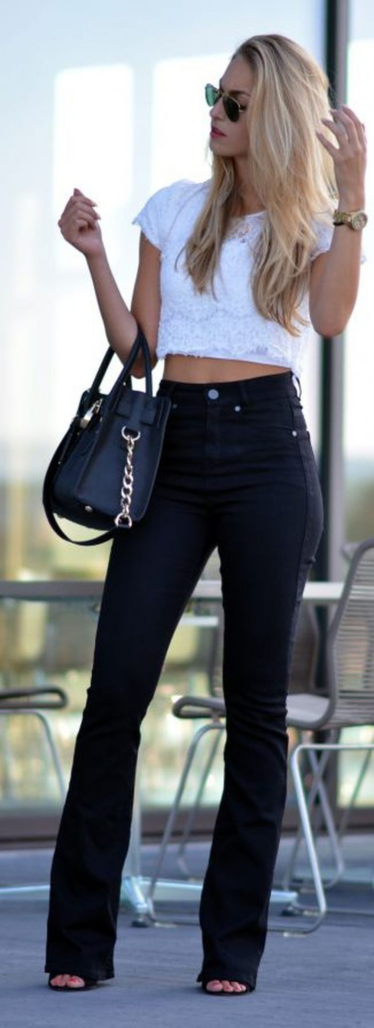 High waisted jeans outfit style 123