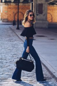 High waisted jeans outfit style 128