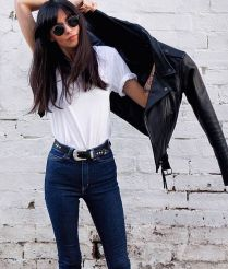 High waisted jeans outfit style 141