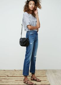 High waisted jeans outfit style 2