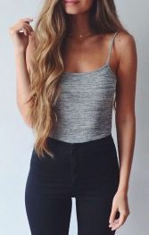 High waisted jeans outfit style 28