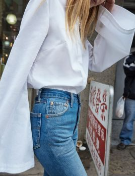 High waisted jeans outfit style 5