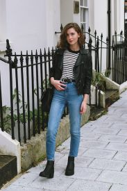 High waisted jeans outfit style 50