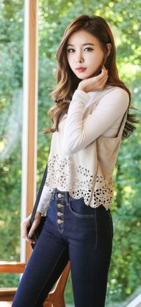 High waisted jeans outfit style 59