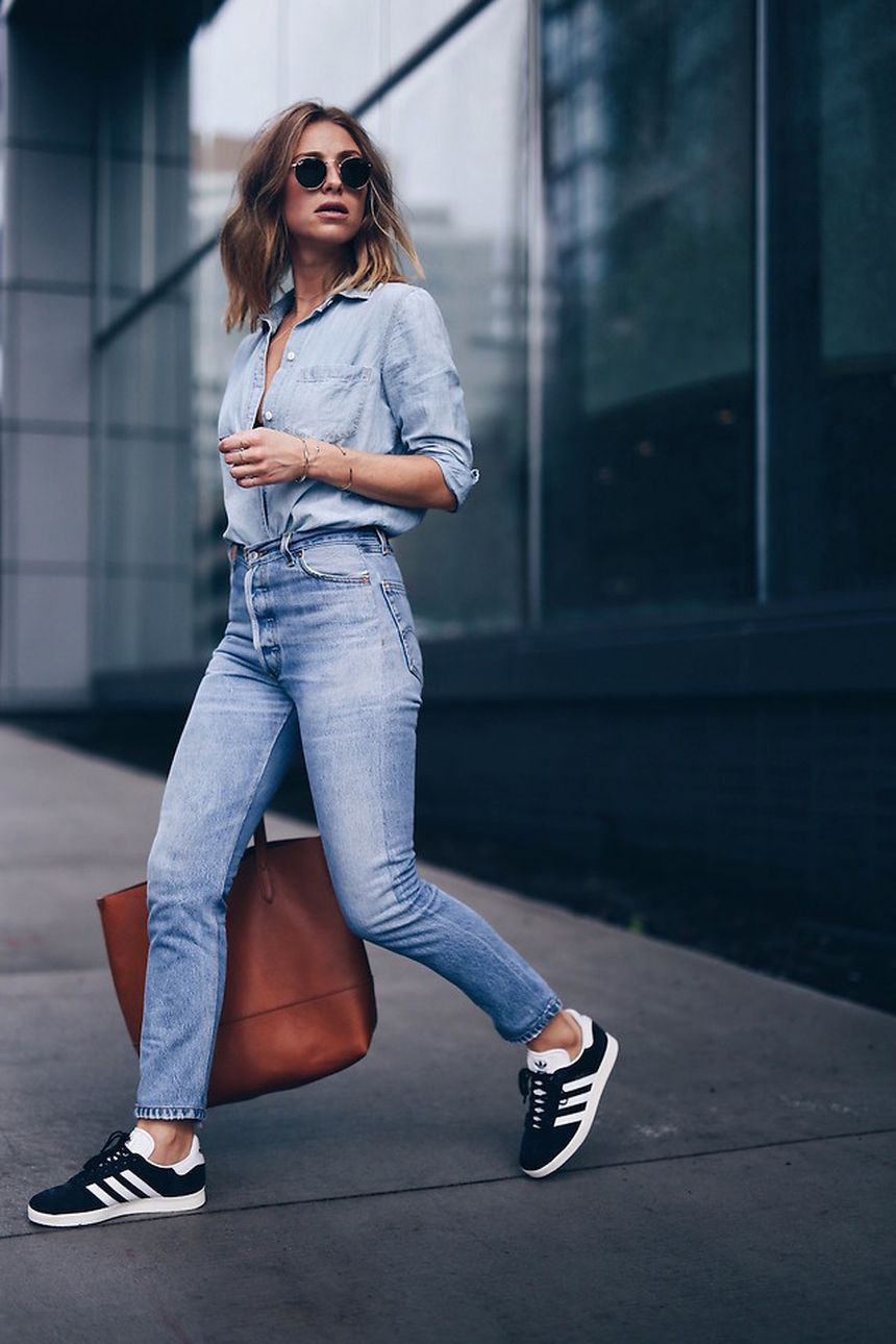High waisted jeans outfit style 77