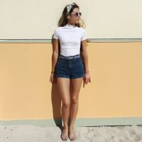 High waisted jeans outfit style 94