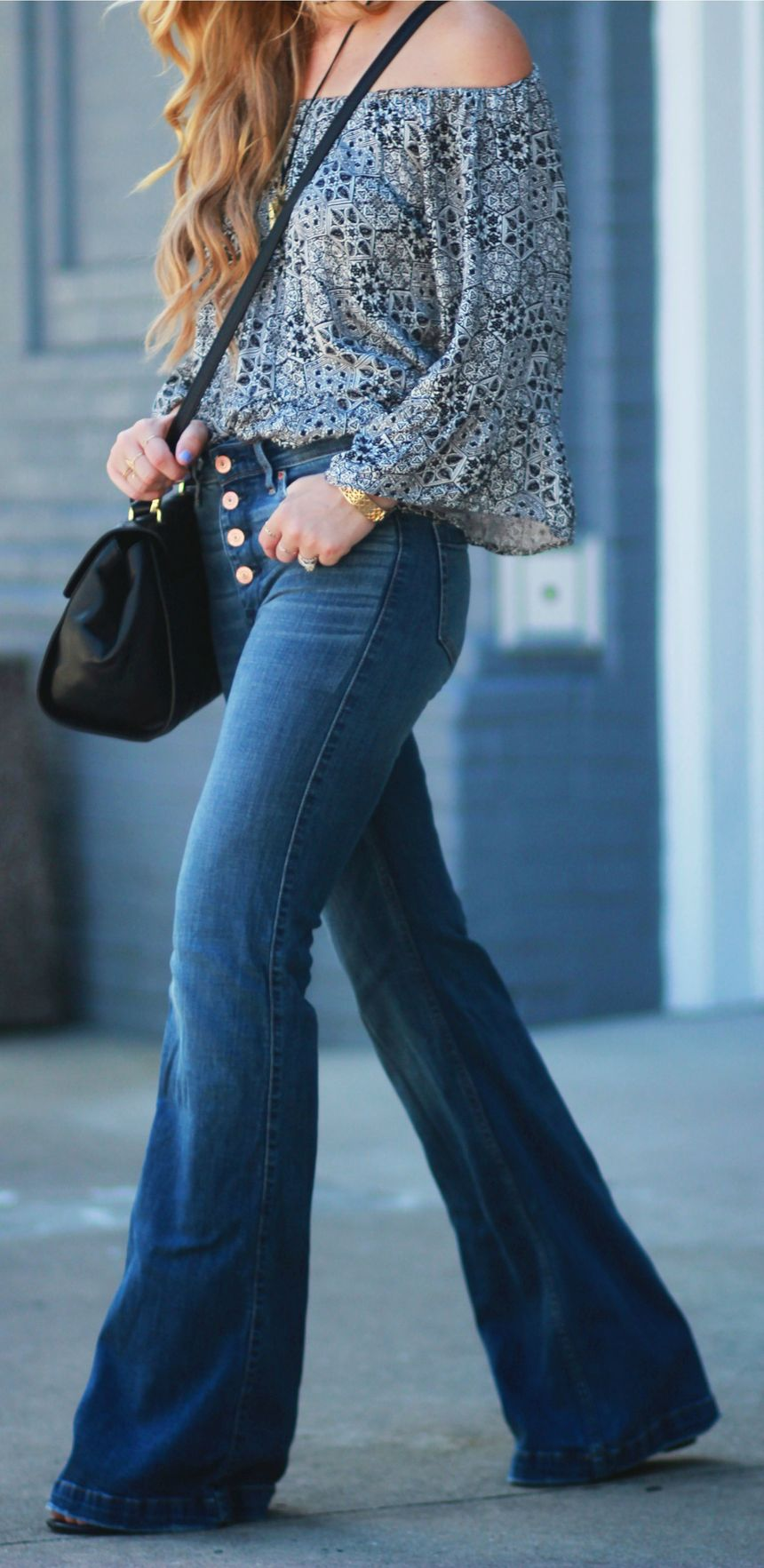 High waisted jeans outfit style 97