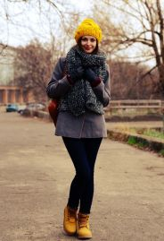 Ideas how to wear timberland boots for girl 14