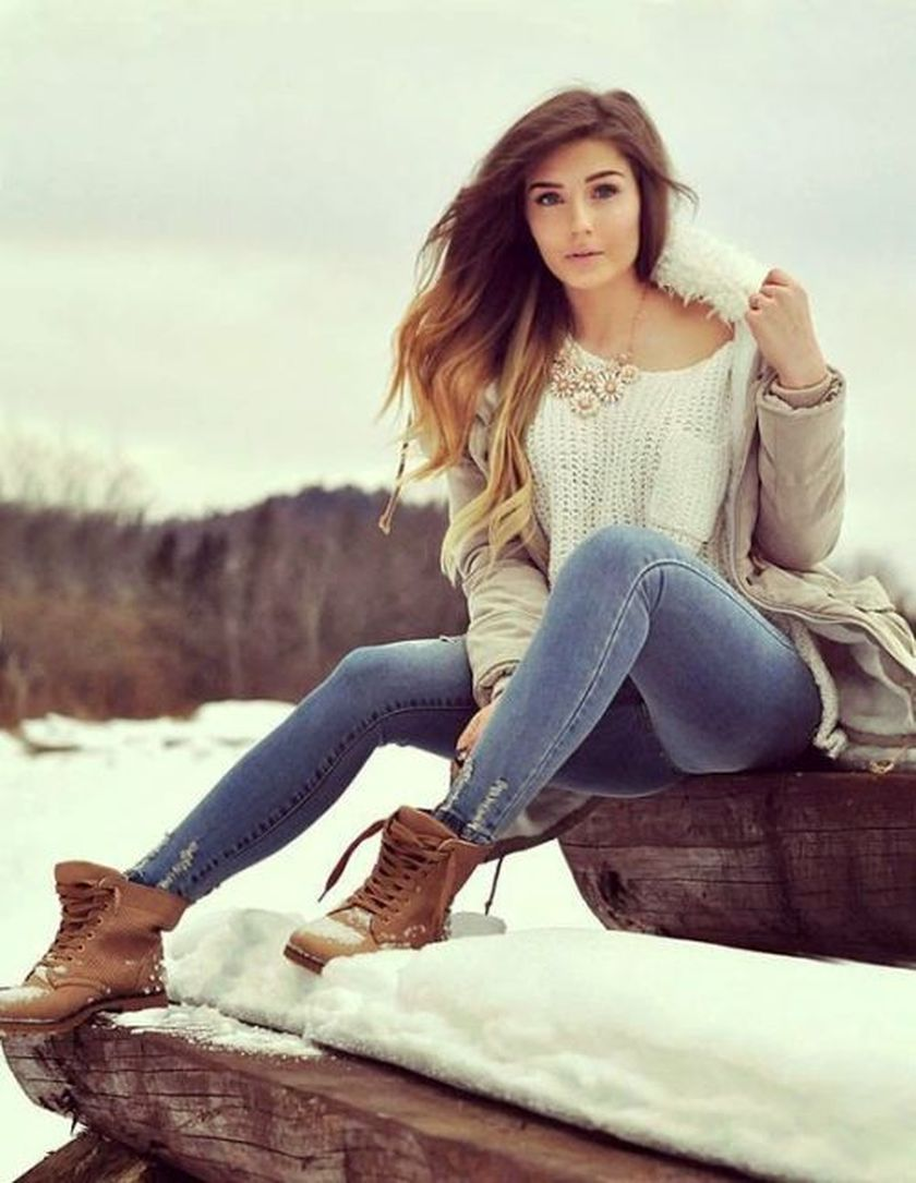 Ideas how to wear timberland boots for girl 17