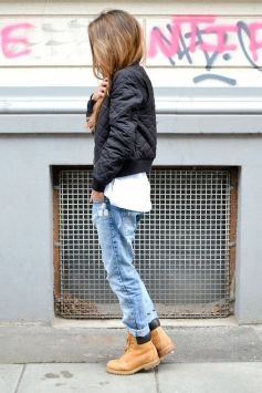 Ideas how to wear timberland boots for girl 36