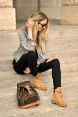 Ideas how to wear timberland boots for girl 6
