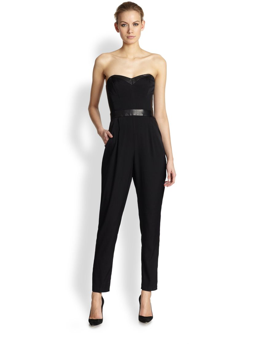 Jumpsuits strapless outfit 1