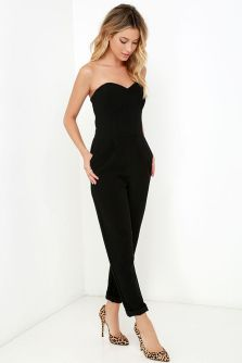 Jumpsuits strapless outfit 14