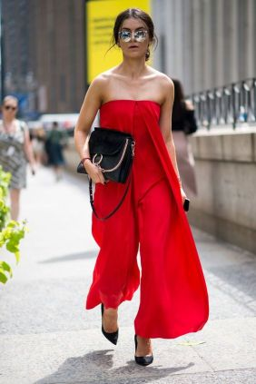 Jumpsuits strapless outfit 17
