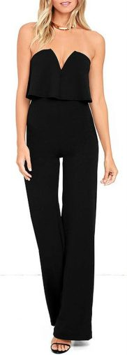 Jumpsuits strapless outfit 57