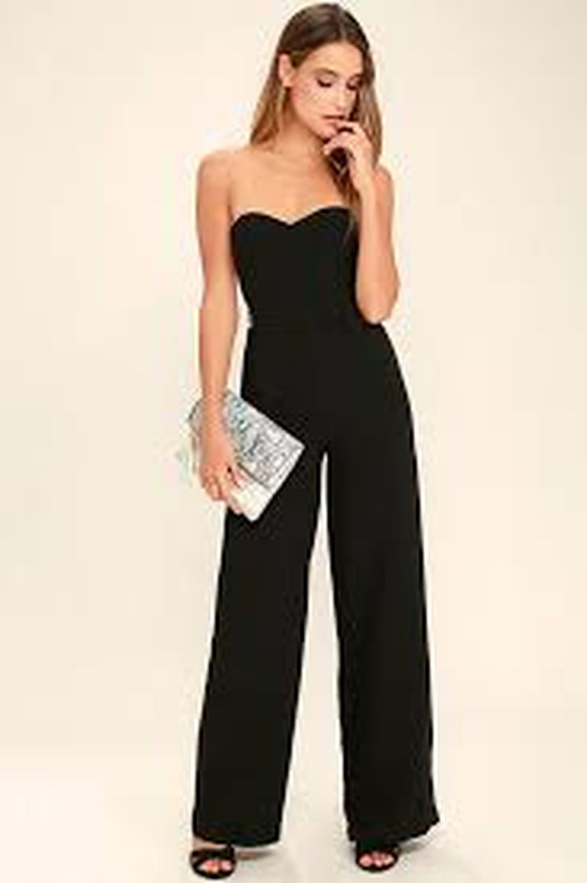 Jumpsuits strapless outfit 6