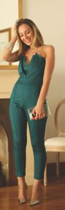 Jumpsuits strapless outfit 61
